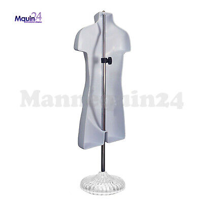 One Mannequin Torso Child W Stand Hanger - White Kids Dress Form