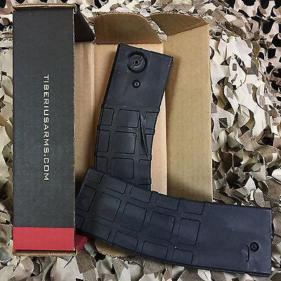 NEW Tiberius Arms T15 20 Round Paintball Gun Magazines (2 Pack) - Black