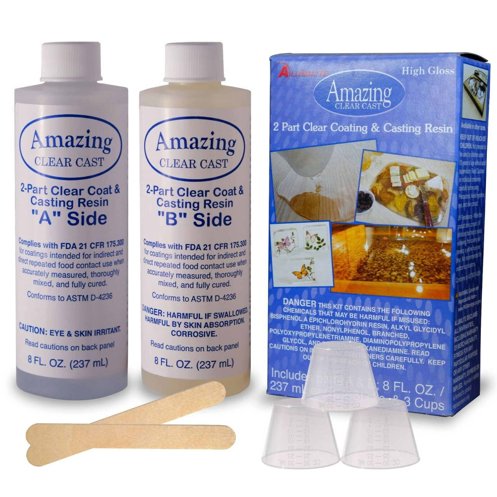 Alumilite Amazing Clear Cast Epoxy Resin Kit, Clear, High Gl