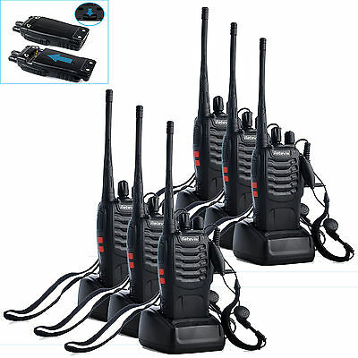 6xRetevis H-777 Walkie Talkie UHF400-470MHz 16CH 5W 3.7V 2-Way Radio US+Tracking on Rummage