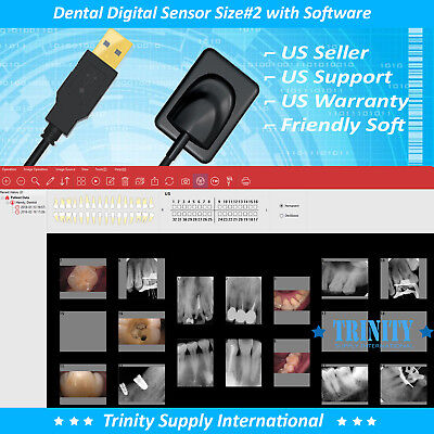 Digital X-ray Dental Intraoral Sensor Size 2 With 500 Sleeves And Software New