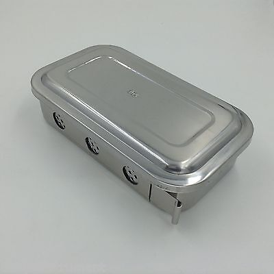 Stainless Steel Instruments Tray Case 8 With Hole Sterilization Tray Surgical