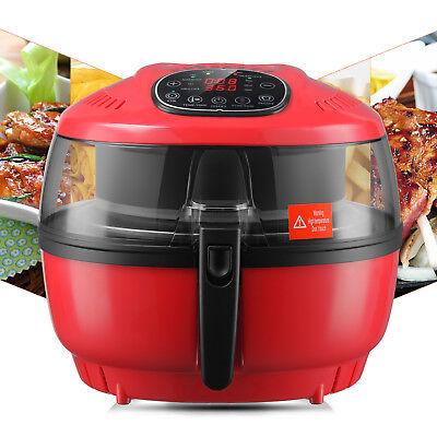 Electric Digital Air Fryer Oil-less Griller Roaster Calorie Reducer 10qt Red