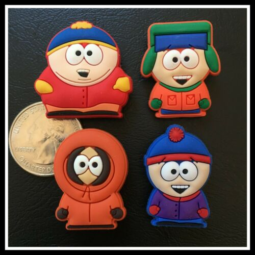 Set of 4 Shoe Charms for Crocs - SOUTH PARK - Eric Kenny Kyle & Stan