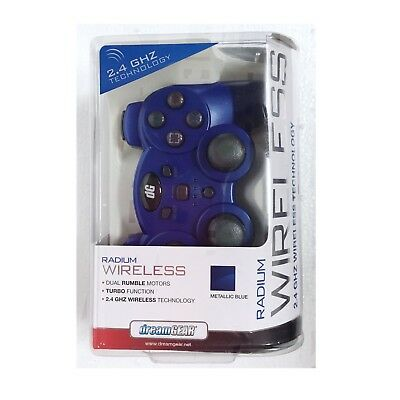 DreamGear Radium 2.4GHZ Wireless Controller PS3 BLUE Dual Rumble Motors