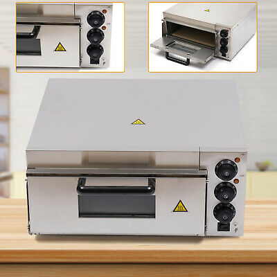 2000w Electric Pizza Baking Oven 1 Deck Fire Stone Stainless Steel Bread Toaster