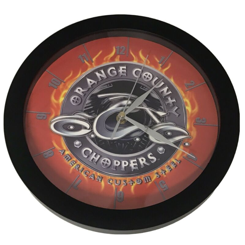 Orange County Choppers America custom steel wall clock