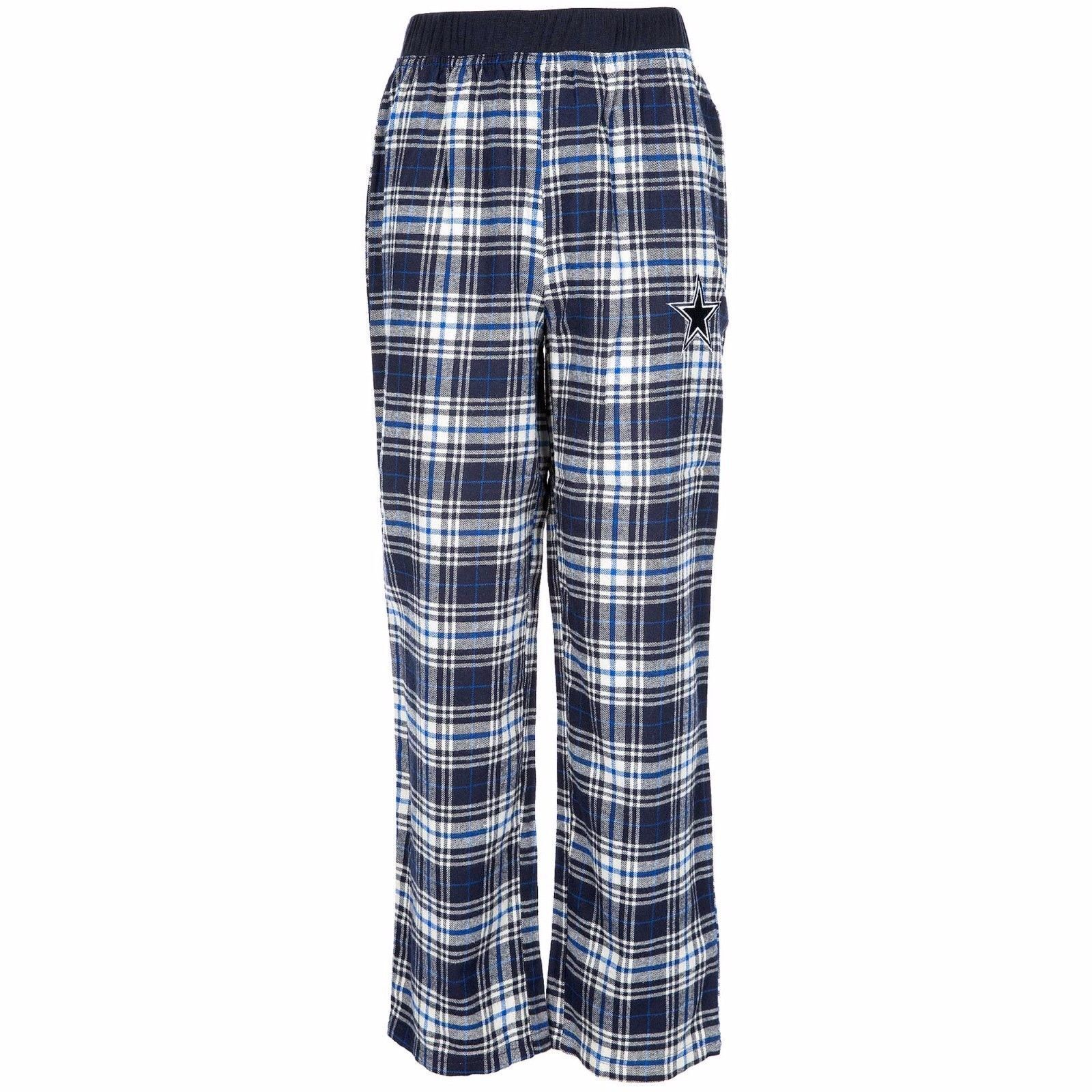 Dallas Cowboys Youth Plaid Flannel Pajama Sleep Pants - Slee