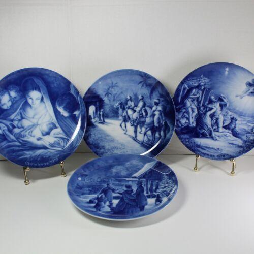 "Vintage AK Kaiser Christmas Collector Plates (1972 1976 1977 1978) 7 5/8"" across"