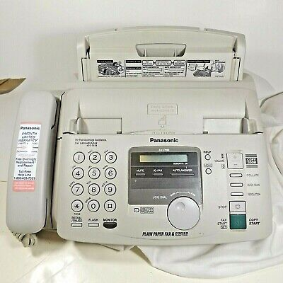 Panasonic Kx-fp80 Plain Paper Fax Telephone Copier Instruction Start Guide