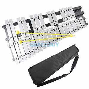30 Glockenspiel Xylophone Vibraphone Foldable Percussion & Mallets & Bag
