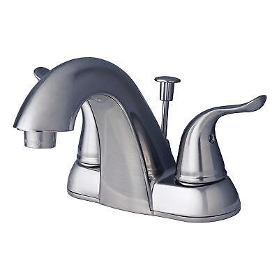 "Contemporary Bathroom Vanity Sink 4"" Centerset Bathroom Faucet Brushed Nickel"