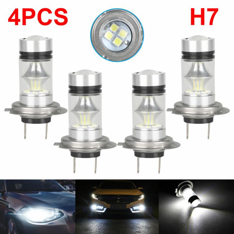 Combo H7 + H7 LED High Low Beam Headlight Kit Fog Bulbs 240W 52000LM White 6000K