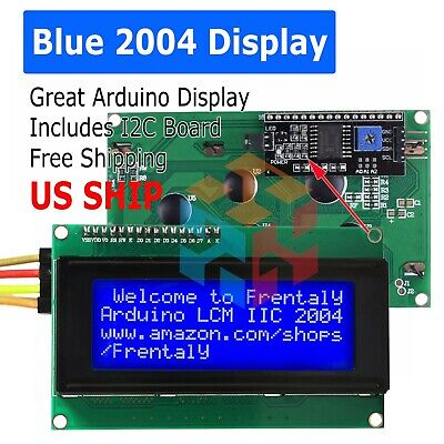 2004 204 20x4 Blue Lcd Serial Character Module Display Iici2ctwi Arduino Kit