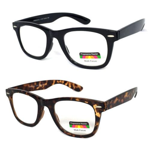 Square Frame Multi Focus Progressive Reading Glasses 3 Strengths in 1 Reader