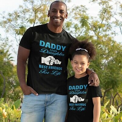 Daddy and Daughter Matching T-shirt Gift Present for Father Dad Tee Mens Womens Dad Womens Fitted T-shirt
