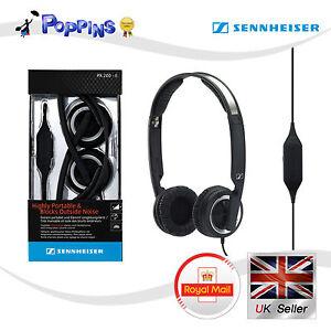 New Genuine Sennheiser PX200-II Foldable Closed Mini On-Ear Headphone (Black)