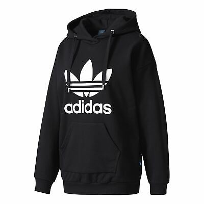 Adidas Women's Trefoil Hoodie Jumper Pullover Sports Top Black