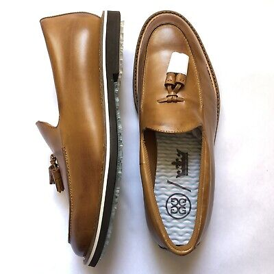 G Fore Golf Shoes Peter Millar Cruiser Golf Loafer Cognac Men Size 10 US Leather
