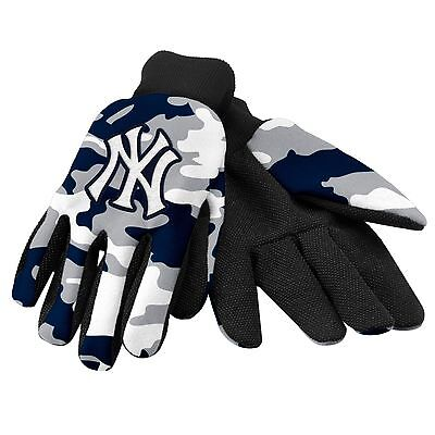 NY New York Yankees Camouflage Sports Utility Gloves Work gardening NEW CAMO