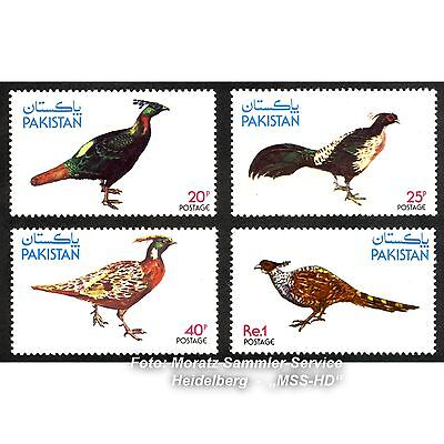 Briefmarken Pakistan, Fasane, 1979, Michel 484-487, Satz kmpl., **