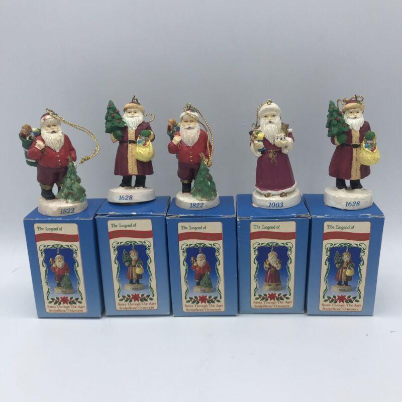 (5) Five Vintage Russ The Legend Of St Nicholas Christmas Tree Ornaments