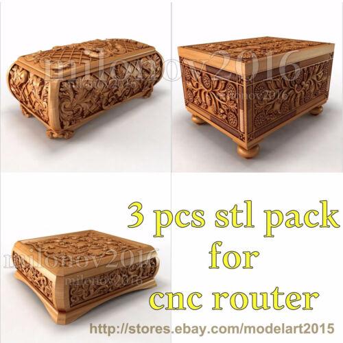 3d stl Model 3 pcs pack Relief for CNC Router Artcam Cut3d Aspire