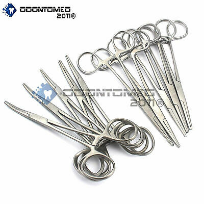 10 Assorted Kelly Hemostat Locking Forceps 5.5 Straight Curved Hobby Tools