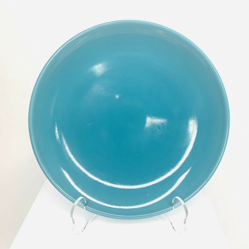 """Russel Wright Iroquois Casual Turquoise or Aqua 7"""" Salad Plate"""