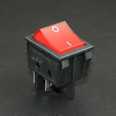 New Canal R Series Red Illuminated Rocker Switch Double Pole 20a 16a 4pin