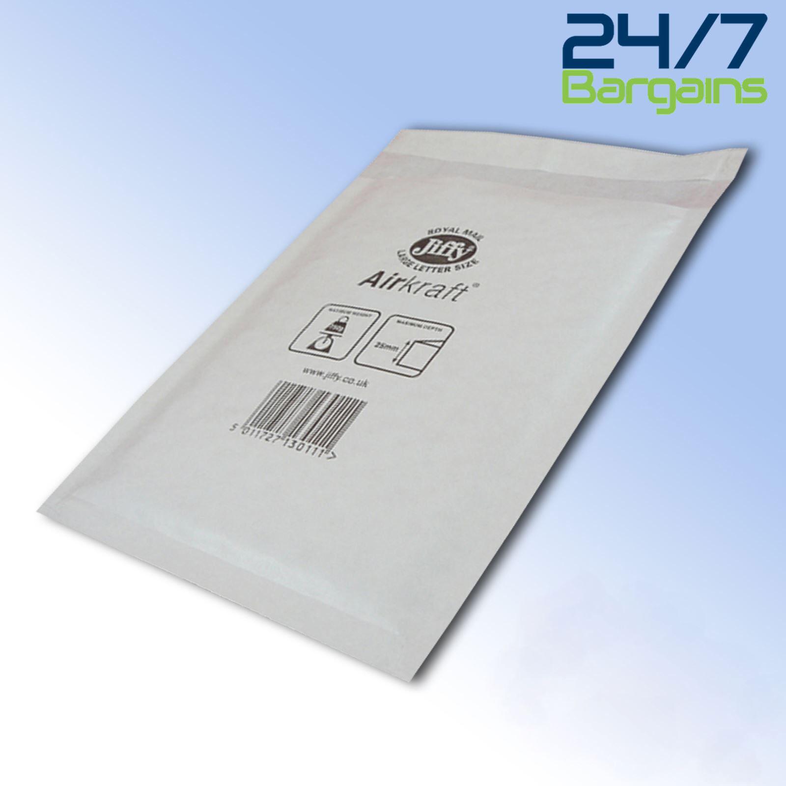 JL0 White 170 x 210mm Bubble Padded JIFFY AIRKRAFT Postal Bag Envelope