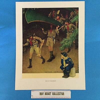 "Boy Scout Norman Rockwell Print 11""x14"" Men Of Tomorrow"