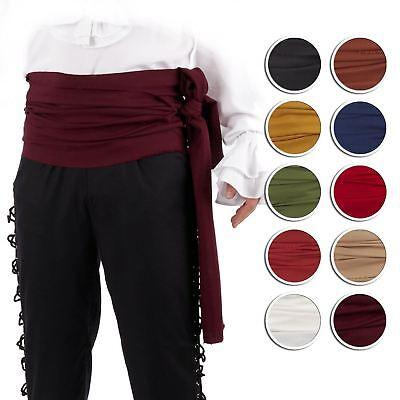 Adult Pirate Sparrow Medieval Caribbean Sash Belt Costume Accessory Men Women - Costume Belt
