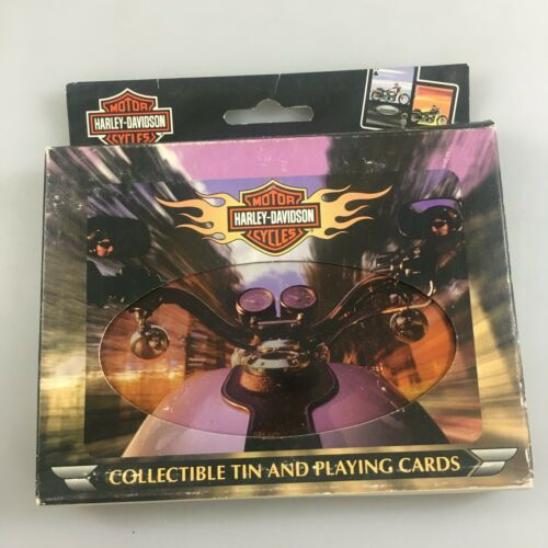 Harley-Davidson Motorcycle Playing Cards Set of 2 in Tin NEW