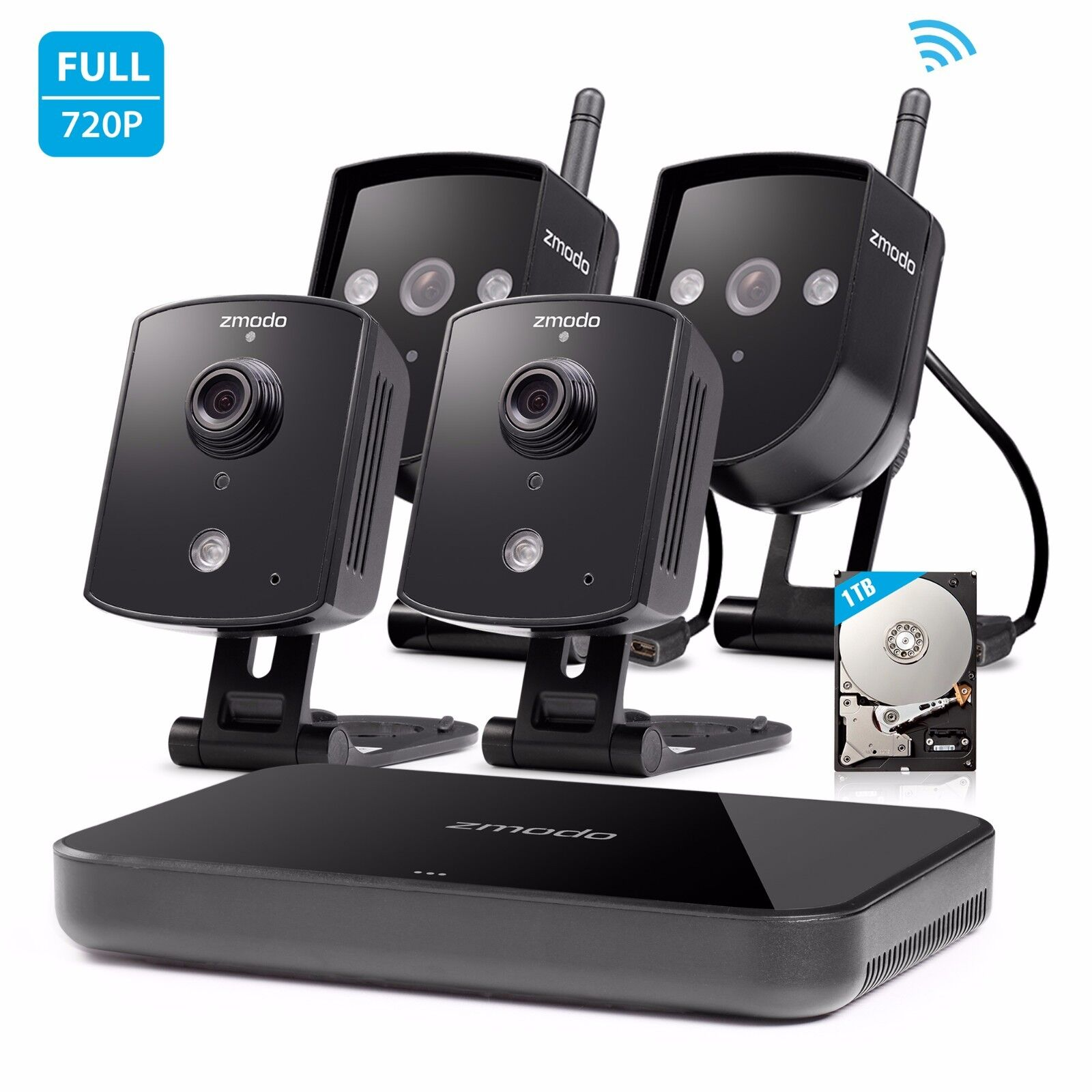 Zmodo 720p Hd Home Security Camera System