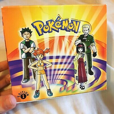 Pokemon English 1st Edition Gym Heroes Booster BOX ONLY No Packs EMPTY BOX!