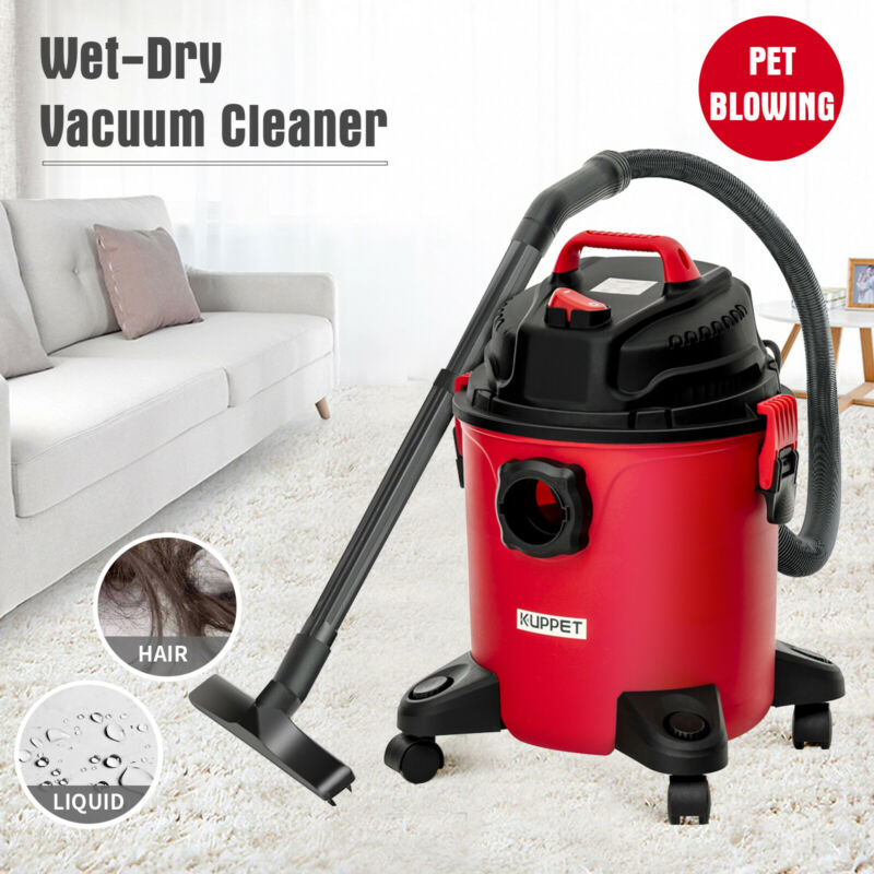 Portable 5.3 Gallon 3-in-1 Wet Dry Vacuum Cleaner Vac Shop 3.5 Peak HP w/ Blower
