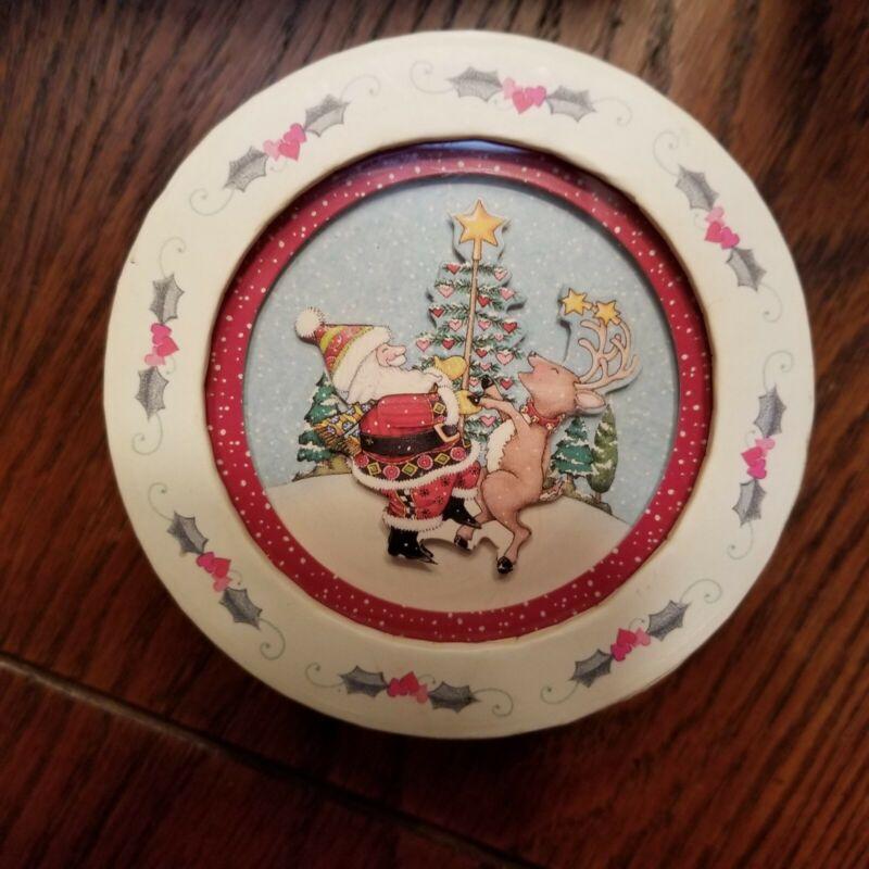 "Mary Engelbreit Apple Cinnamon Soap ""Wishing.."" Decorative Lidded Box"