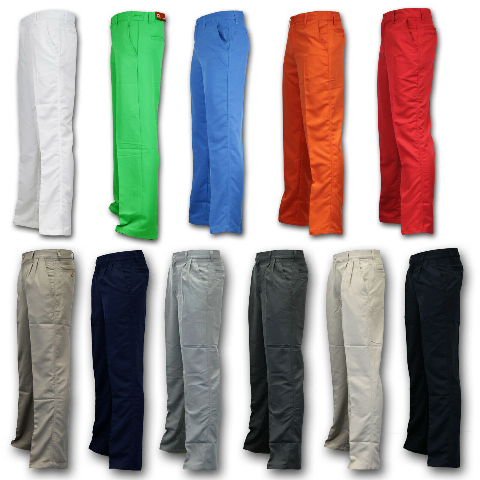 DUNLOP SLAZENGER Golfhose Pants Herren Blau,Sand,Grau,Schwarz 30W 29L - 50W 31L