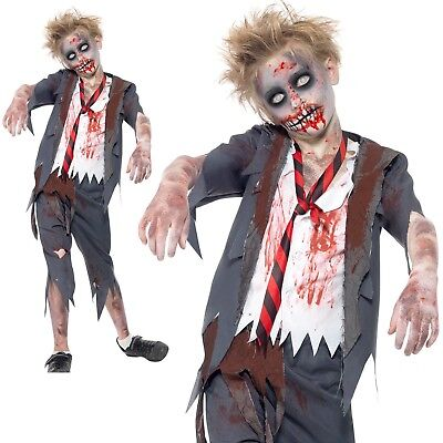 Zombie School Boy Costume Uniform Halloween Scary Evil Dead Fancy Dress (Dead School Boy Costume)