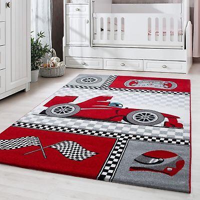 zimmer Babyzimmer Rennwagen Design Rot Grau Weiß Oeko Tex (Rennwagen-design)