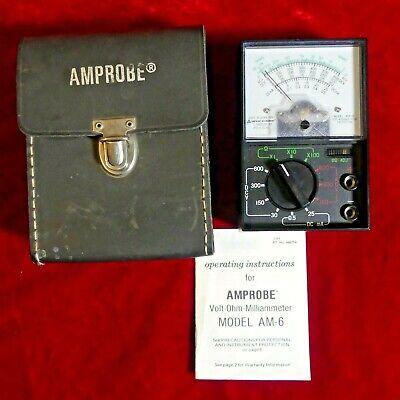 Amprobe Am-6 Analog Multimeter Vom And Mm6 Case