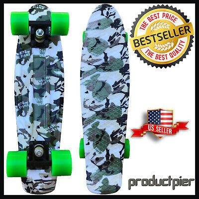 "22"" Classic Mini Cruiser Skateboard Complete Deck Premium Durable Plastic Longbo"