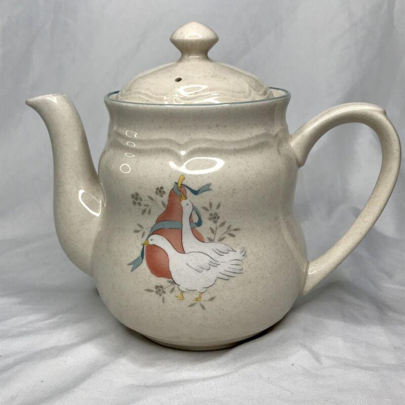 International China MARMALADE Stoneware Coffee Pot 6 Cup Goose Geese