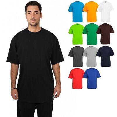 Basic Tee (Urban Classics Tall Tee TB006 T-Shirt lang Übergröße Baumwolle Basic Rundhals)