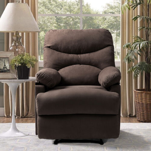 Massage Chair Heated Vibrating Recliner  Sofa Microfiber Lou