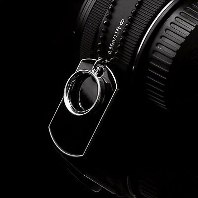 Men's Stainless Steel Black Ring Dog Tag Pendant Necklace w/Beaded Chain Gift Fashion Jewelry