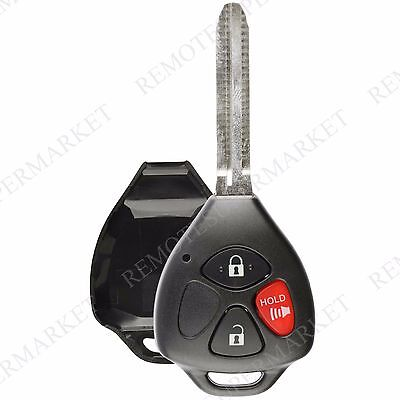 Replacement for Scion 05-10 tC Toyota 07-13 Yaris Remote Car Key Fob Shell Case