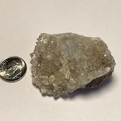 Herkimer Diamond Druzy Quartz on Matrix!  Turtle Clan Ridge NY!  57 Grams