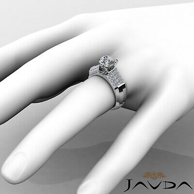 4 Prong Invisible Set Heart Cut Diamond Engagement Ring GIA I VS2 Clarity 2.2Ct 2